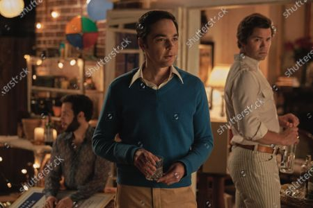 Robin De Jesus as Emory, Jim Parsons as Michael and Andrew Rannells as Larry