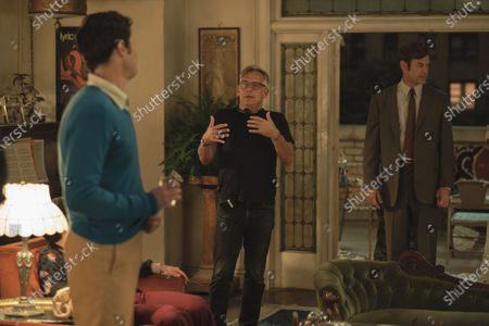Stock Picture of Jim Parsons as Michael, Joe Mantello Director and Tuc Watkins as Hank