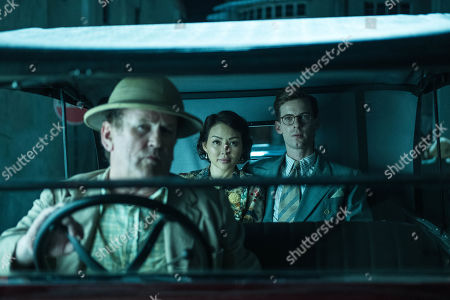 Stock Picture of Colm Meaney as Major Archer, Elizabeth Tan as Vera Chang and Luke Treadaway as Matthew Webb.