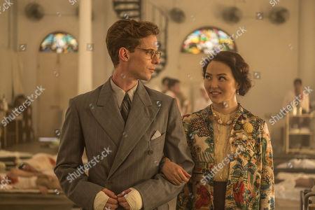 Luke Treadaway as Matthew Webb and Elizabeth Tan as Vera Chang.