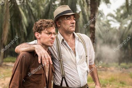 Luke Treadaway as Matthew Webb and Christophe Guybet as Francois Dupigny.