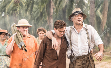 Stock Photo of Luke Treadaway as Matthew Webb and Christophe Guybet as Francois Dupigny.