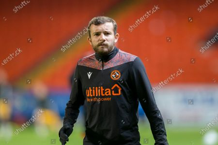 Paul McMullan of Dundee United during the warm up before the match; Tannadice Park, Dundee, Scotland; Scottish Premiership Football, Dundee United versus Livingston.