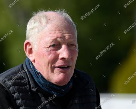 Stock Photo of Trainer Gary Moore during Horse Racing at Salisbury Racecourse on 1st October 2020