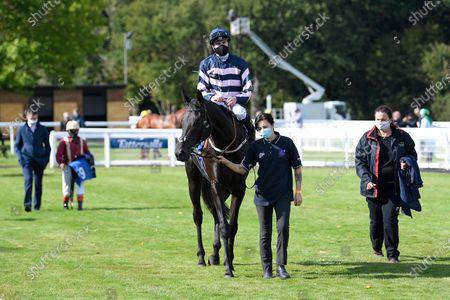 Editorial photo of Behind Closed Doors Race Meeting, Horse Racing, Salisbury Racecourse, Wiltshire, United Kingdom - 01 Oct 2020