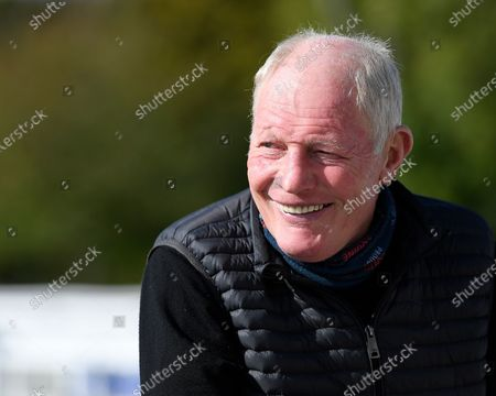 Trainer Gary Moore during Horse Racing at Salisbury Racecourse on 1st October 2020