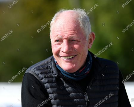 A happy Trainer Gary Moore during Horse Racing at Salisbury Racecourse on 1st October 2020