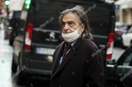Jean-Pierre Leaud attends the funeral ceremony of French actor Michael Lonsdale at Saint Roch church in Paris, France, 01 October 2020. Lonsdale died at the age of 89 on 21 September 2020.