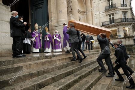 Editorial photo of Funeral ceremony of Michael Lonsdale, Paris, France - 01 Oct 2020