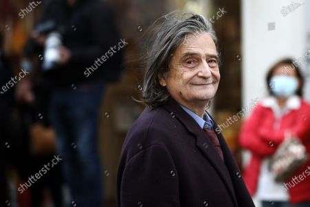 Jean-Pierre Leaud leaves after the funeral ceremony of French actor Michael Lonsdale at Saint Roch church in Paris, France, 01 October 2020. Lonsdale died at the age of 89 on 21 September 2020.