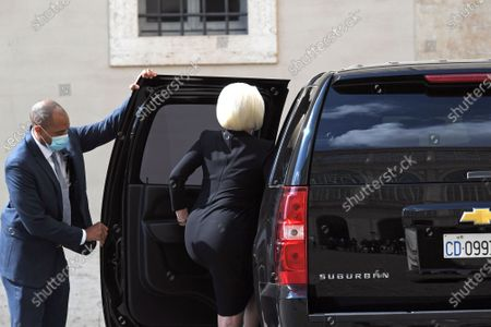 Stock Image of Callista Gingrich U.S. Ambassador to the Holy See leaves the Vatican