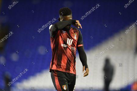 Jefferson Lerma of Bournemouth shows a look of dejection as he leaves the field.