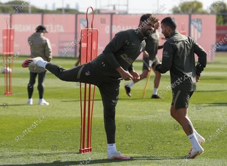 Atletico Madrid's striker Diego Costa exercises during his team's training session at Wanda Sport City in Majadahonda, near Madrid, central Spain, 01 October 2020. Atletico Madrid will face Villareal upcoming 03 October in a Spanish Liga's Primera Division match.