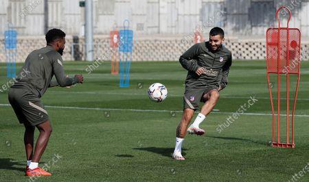 Editorial picture of Atletico Madrid's training session, Majadahonda, Spain - 01 Oct 2020