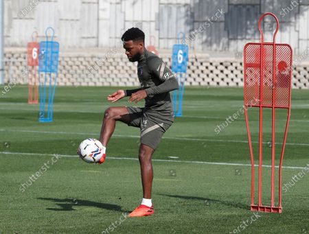Stock Picture of Atletico Madrid's French midfielder Thomas Lemar controls a ball during his team's training session at Wanda Sport City in Majadahonda, near Madrid, central Spain, 01 October 2020. Atletico Madrid will face Villareal upcoming 03 October in a Spanish Liga's Primera Division match.