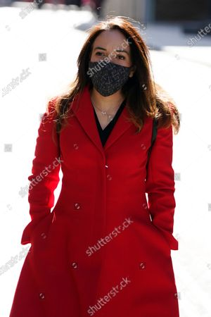 WikiLeaks founder Julian Assange's partner, Stella Moris, attends his trial at the Old Bailey in London, Britain, 01 October 2020. Assange is fighting being extradited to the US on charges relating to leaks of classified documents allegedly exposing war crimes and abuse.