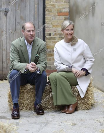 Britain's Prince Edward and Sophie, Countess of Wessex visit Vauxhall City Farm in London, to see the farm's community engagement and education programmes as the farm marks the start of Black History Month