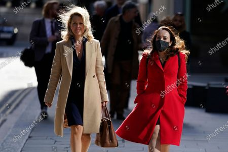 Stock Photo of WikiLeaks founder Julian Assange's partner, Stella Moris (R), and lawyer for Mr Assange, Jennifer Robinson (L), attend his trial at the Old Bailey in London, Britain, 01 October 2020. Assange is fighting being extradited to the US on charges relating to leaks of classified documents allegedly exposing war crimes and abuse.