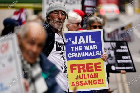 Editorial photo of Julian Assange extradition trial, London, United Kingdom - 01 Oct 2020