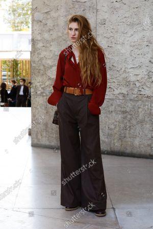 Agathe Bonitzer at the Chloe Spring Summer 2021 fashion show