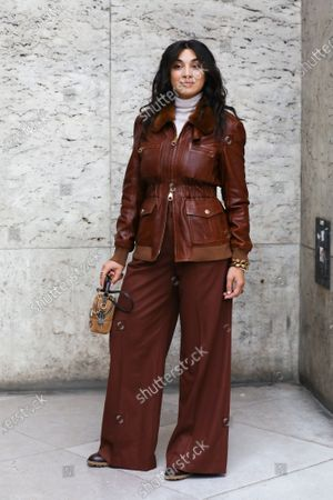 Camelia Jordana at the Chloe Spring Summer 2021 fashion show