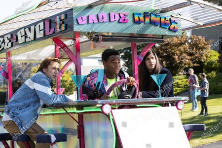 Skyler Gisondo as Griffin, Dexter Darden as Hags and Eduardo Franco as Andrew