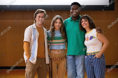Skyler Gisondo as Griffin, Grace Van Dien as Lena, Dexter Darden as Hags and Natalie Paige Goldberg as Becky