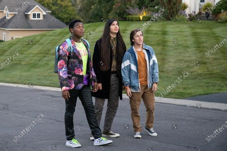 Dexter Darden as Hags, Eduardo Franco as Andrew and Skyler Gisondo as Griffin