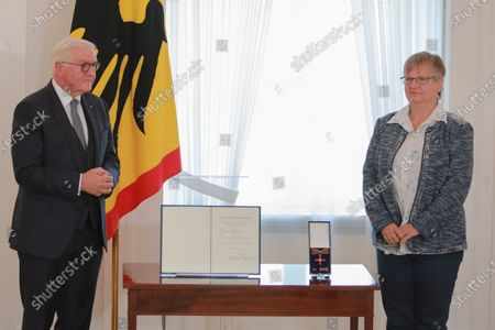 Editorial photo of German President Steinmeier hands over Orders of Merit of the Federal Republic of Germany, Berlin, Germany - 01 Oct 2020