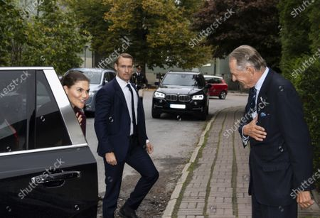 Stock Photo of Crown Princess Victoria is greeted by Jan Eliasson, former Deputy Secretary-General of the United Nations, while visiting Stockholm International Peace Research Institute (SIPRI)