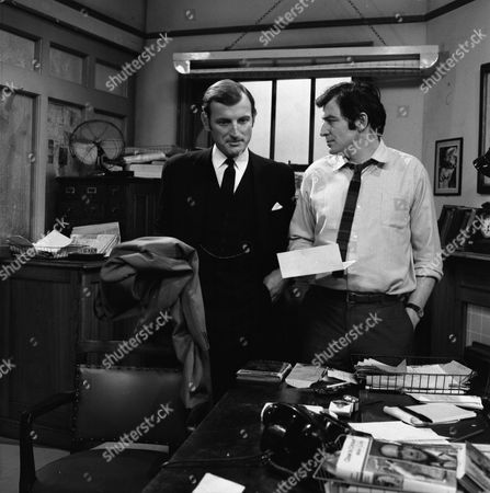 Gerald Harper as James Hadleigh and Jon Laurimore as Waiters