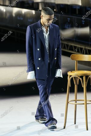 Olivier Rousteing on the catwalk