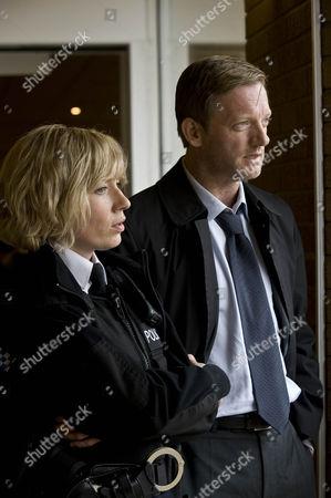 Pictured: (Douglas Henshall) DI John Tolin and (Kate Ashfield) Ann Stallwood.
