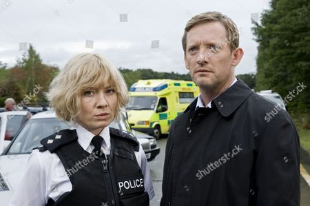 Douglas Henshaw as DI John Tolin and Kate Ashfield as Ann Stallwood