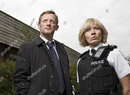 Pictured [l-r]: DI John Tolin [Douglas Henshall] and Ann Stallwood [Kate Ashfield]