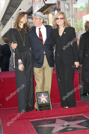 Stock Picture of Sam Waterston with daughter Katherine and wife Lynn Waterson