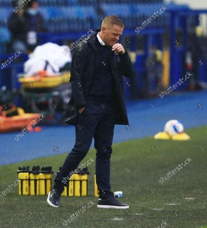 Sheffield Wednesday manager Garry Monk looks dejected