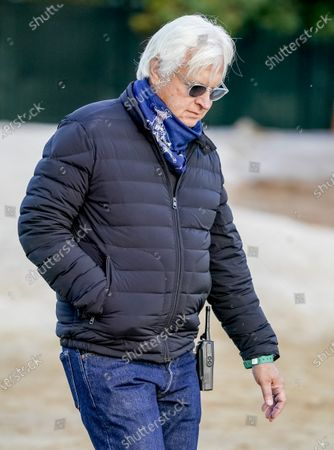 , 2020, Baltimore, MD, USA: Bob Baffert walks to the track as horses prepare for the Preakness Stakes at Pimlico Race Course in Baltimore, Maryland. Scott Serio/Eclipse Sportswire/CSM
