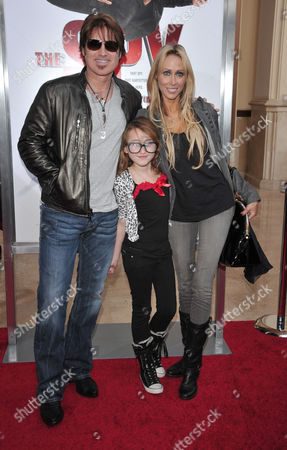 Stock Picture of Billy Ray Cyrus, Letitia Cyrus and daughter Noah