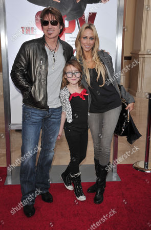 Stock Image of Billy Ray Cyrus, Letitia Cyrus and daughter Noah