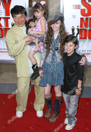 Jackie Chan with Alina Foley, Madeline Carroll and Will Shadley