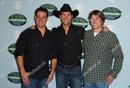 "Rob Mariano, Colby Donaldson and James ""JT"" Thomas Jr."