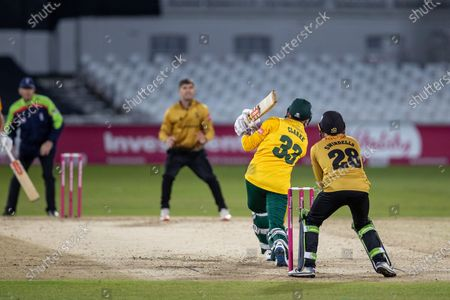 Editorial picture of Nottinghamshire Outlaws v Leicestershire Foxes, Vitality T20 Blast Quarter Final - 01 Oct 2020