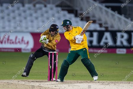 Stock Photo of Joe Clarke batting during the Vitality T20 Blast Quarter Final match between Notts Outlaws and Leicestershire Foxes at Trent Bridge, Nottingham