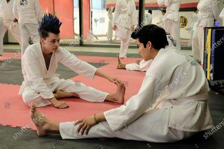 Jacob Bertrand as Hawk/Eli and Xolo Mariduena as Miguel Diaz