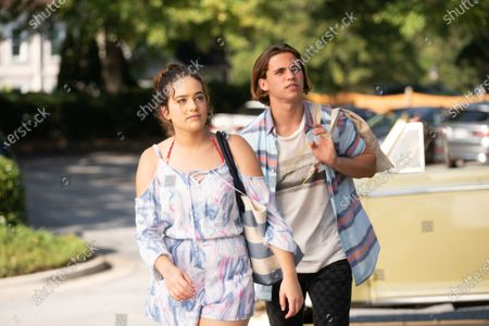 Mary Mouser as Samantha LaRusso and Tanner Buchanan as Robby Keene