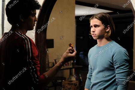 Xolo Mariduena as Miguel Diaz and Tanner Buchanan as Robby Keene