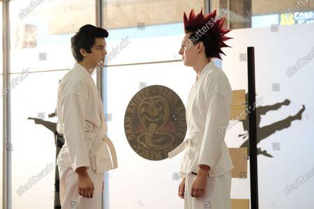 Stock Photo of Xolo Mariduena as Miguel Diaz and Jacob Bertrand as Hawk/Eli