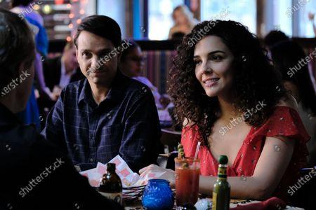 Ralph Macchio as Daniel LaRusso and Vanessa Rubio as Carmen