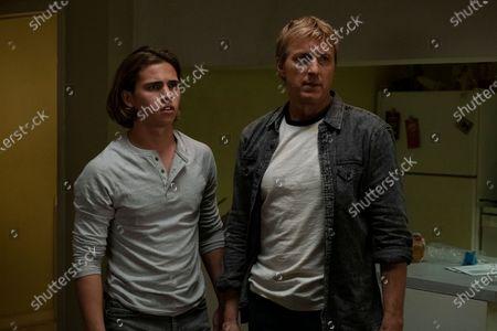 Tanner Buchanan as Robby Keene and William Zabka as Johnny Lawrence
